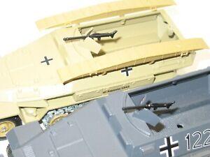 Bundle 2 Machine Guns MG Metal Black (Char German Sdkfz 251) solido Military