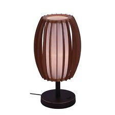 Woodbridge Lighting Fins Wood 1-Light Table Lamp, Bronze - 16081MEB-WSF2AS