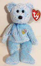 "TY Beanie Babies ""DECADE (light blue)"" 10th Anniversary Teddy Bear - MWMTs! NEW!"