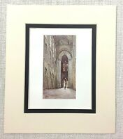 1906 Antico Stampa Ely Cathedral Interno Navata Vista Vecchio Inglese