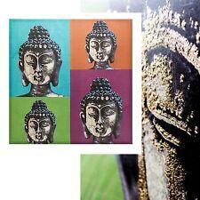 Großes Wandbild Buddha mit 3D-Effekt,80 x 80 cm,Leinwand Keilrahmen Leinwandbild