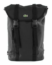 LACOSTE Neocroc Flap Backpack Rucksack Tasche Black Schwarz Neu