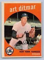 1959  ART DITMAR - Topps Baseball Card # 374 - NEW YORK YANKEES