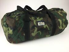Vintage High Sierra Duffle Camo Bag Travel Camp 80s 90s Green Brown