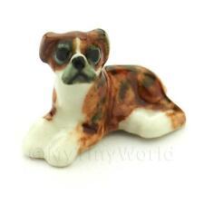 Dolls House miniatura in ceramica Melange Boxer Dog