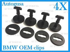 NEW GENUINE OEM BMW 3,5,7,X SERIES BLACK CAR MAT FIXING CLIPS 4 PCS 51479416390
