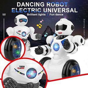 Children's Electric Universal Dancing LED Light Music Dazzling Dance Robot AU
