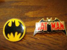 1 Batman Word Pin and 1 Batman Round Logo Hat - Lapel Collectors Pins
