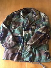 USGI M-65 Field Jacket Woodland Camo BDU Cold Weather Army Coat Xtra-Small