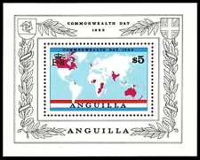 """ANGUILLA 525 (SG548) - Commonwealth Day """"Commonwealth Map"""" (pa56807)"""