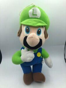 Official Nintendo Banpresto BP 2008 Super Mario Bros Luigi Plush Stuffed Toy