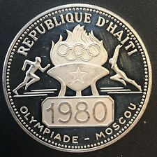 Haiti - Silver 50 Gourdes Coin - Olympic Games - 1980 - Proof