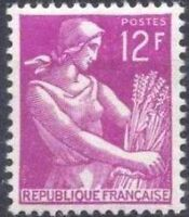 "FRANCE N°1116 ""LA MOISSONNEUSE 12F"" NEUF xx TTB"