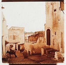 Tanger Casbah Maroc Plaque de verre stereo Positif
