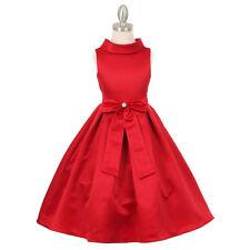 RED Flower Girl Dresses Bridesmaid Wedding Birthday Formal Party Recital Dance