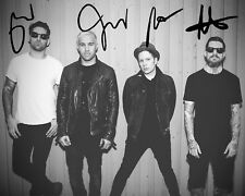 FALL OUT BOY SIGNED AUTOGRAPHED REPRINT 8X10 COLOR PHOTO POSTER GLOSSY TOUR