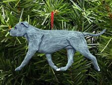 American Staffordshire Terrier Ornament Blue