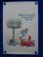 AFFICHE / Poster - CARICATURE - CHIRAC - PARIS & POLLUTION - MARRANT / Funny !
