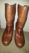 Ugg Lynnea Chestnut Leather Sheepskin Lined Clog Boots Women's 7 US 5.5 UK 38 EU