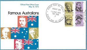 Australian 1973 Famous Australians FDC Stamp D128