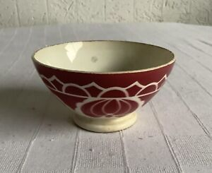 Bol Ancien Digoin Sarreguemines Decor Original   Rouge Bon Etat