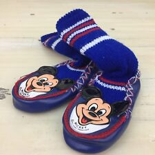 MICKEY MOUSE CLUB - Vtg Blue Sock House Shoe Disney Slippers, Toddler Size 5.5""