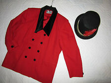 CIRCUS ringmaster red jacket COSTUME size 20 cosplay fantasy plus Mardi Gras