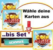3 Coin Master Card freely selectable -- until Set Switzerland (except GOLD CARDS)...