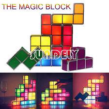 NEW! Tetris Game Style Stackable LED Light Novelty DIY Constructible Retro