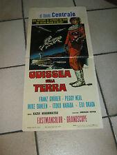 LOCANDINA, 1969,ODISSEA SULLA TERRA,daikaijū Girara,Nihonmatsu,Wazaki sci/fi