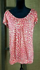 Michael Kors women size S/P blouse top short sleeve scoop neck shirt