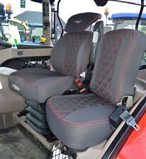 CASE IH Tractor Driver & Side Tailored Seat Covers Black & Red With Logo