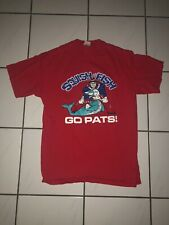 NFL New England Patriots Squish The Fish Tee Shirt Size Large