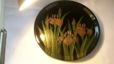 Japanese lacquerware tray with gorgeous iris flower (original design) hand craft