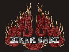 Biker Babe Rhinestone iron on Bling Transfer DIY Hot fix Applique Biker week