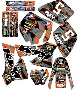 KTM  50 mini adventure / SX Graphics 2002 - 2008 D Motocross MX decals stickers