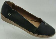 Soul of Africa Women's Shoes Slip On Flats Froggie Black Leather Size 10 M EUC
