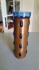 Mid Century Nanny Still Design Vase, Blau + Kupfer,  Diburg Museum, traumschön