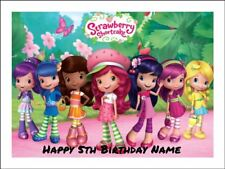 STRAWBERRY SHORTCAKE A4 Edible Icing Birthday Cake Party Decoration Topper
