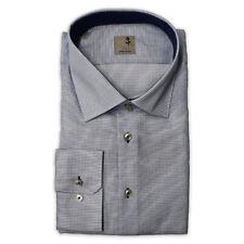 Seidensticker Shirt Black Rose Kent Blue White Pattern Size 44/241756.13