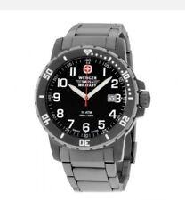 Wenger Black Dial Titanium Men's Watch 011341208S