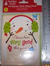 Letter To Santa CHRISTMAS Wish Letter Note Pack SNOWMAN Theme