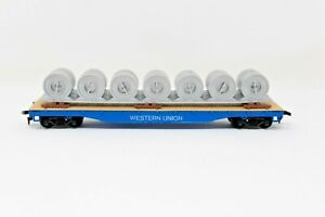 Tyco HO scale Western Union Cable Reel Car 335-B with Box Vintage