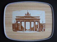 Resopal Tablett Brandenburger Tor Berlin Wendetablett 60er - tray vintage mid