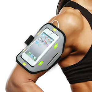 """Sport Armband (with Green Flashing Lights) for Apple iPhone SE, 5S, 5 (4.0"""")"""