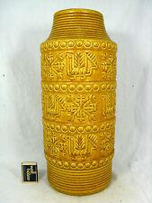 "Beautiful yellow / gelbe 70´s design BAY "" Relief "" Keramik pottery vase  64  40"