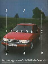 SAAB 900 Turbo Sensonic - 1995 2 Pages Print Ad