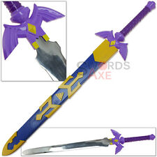 Link's True Master Sword Blessed by Zelda Purple Hilt 3x DMG 440C Steel Replica