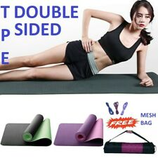 Skiiddii TPE Yoga Mat  Eco Exercise Fitness Gym Pilates Non Slip Dual Layer