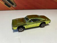 1969 Custom Charger BLISTER PULL MINTY Hot Wheels Redline lime Yellow Redlines
